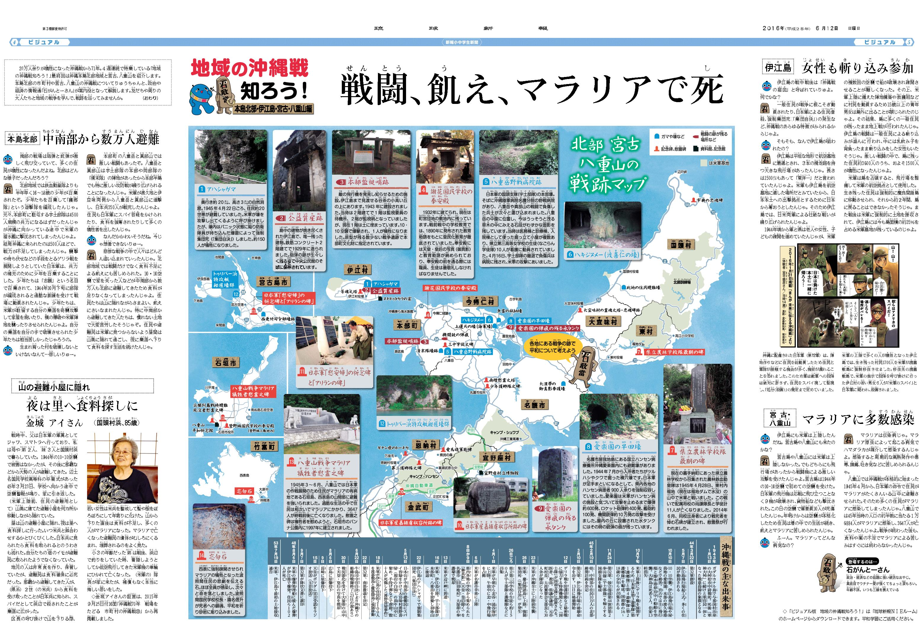 琉球新報 NIEルーム