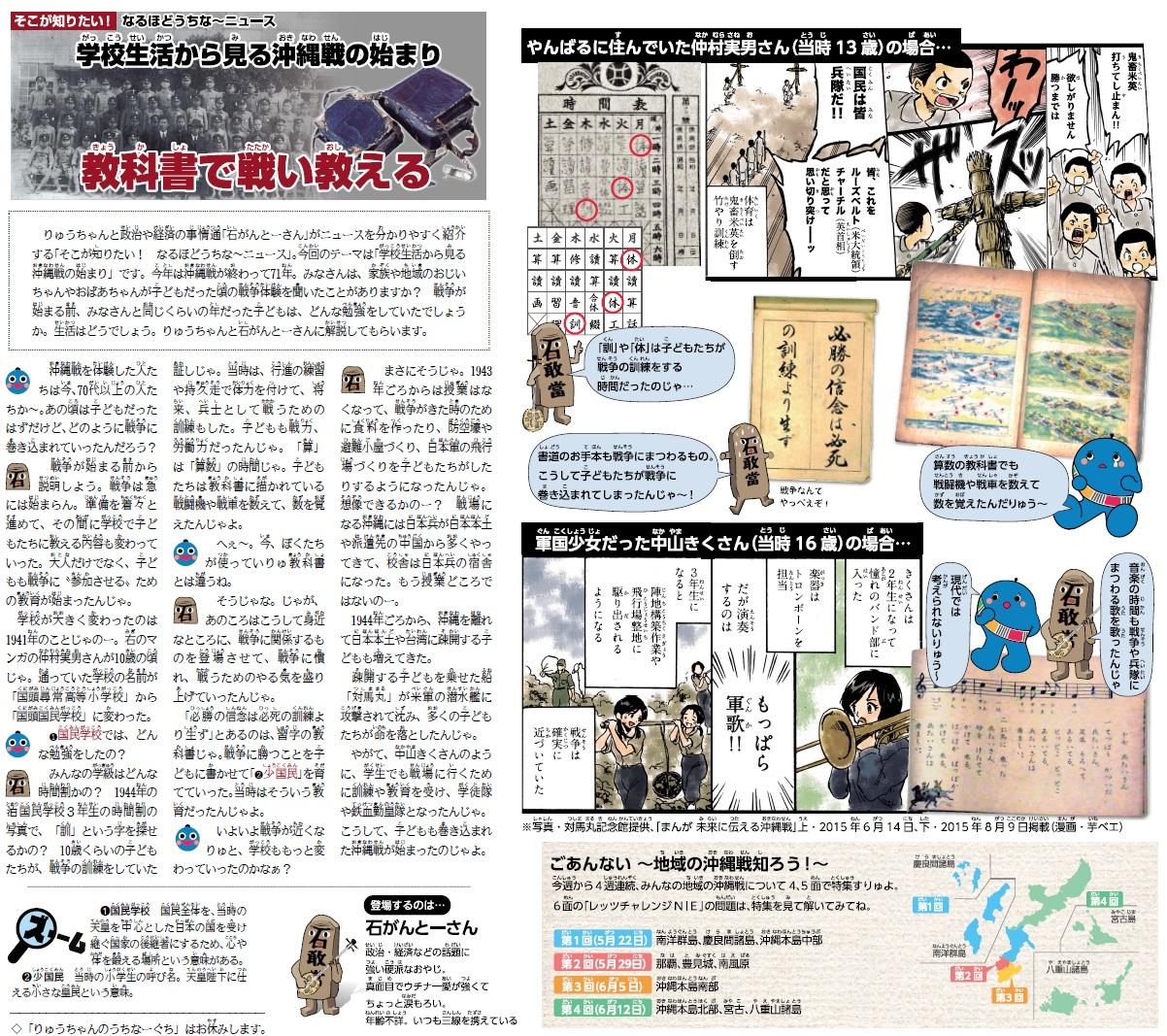2016年5月22日 りゅうPON!1面